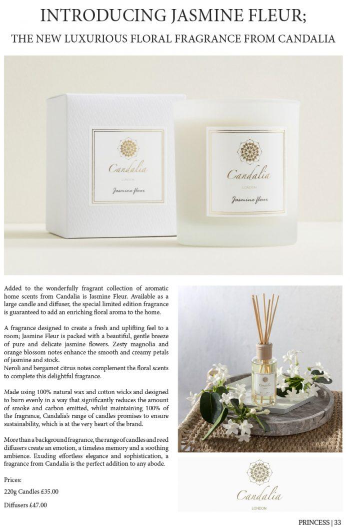 Candalia Luxury Candles London - Princess Magazine Issue 12