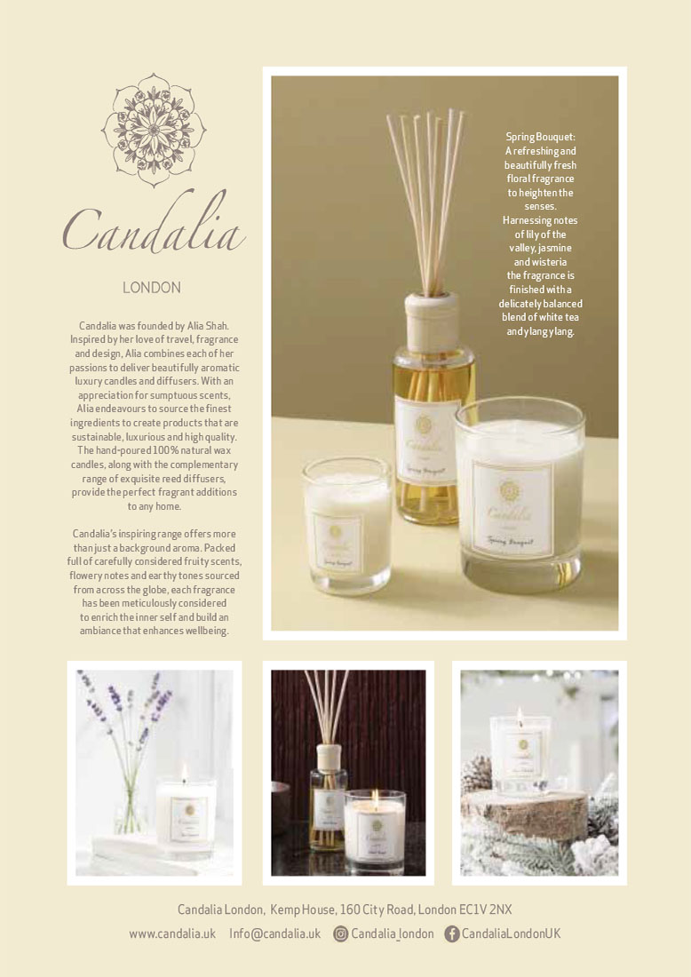 Candalia London Candles and Diffusers - Mayfair Times Article February 2021
